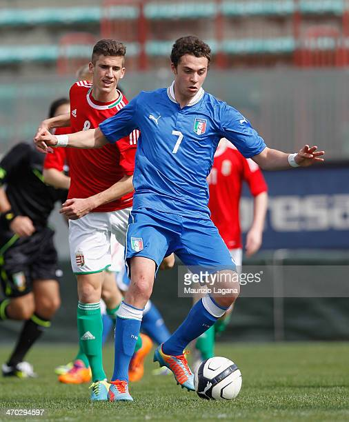 Gianfilippo Felicioli of Italy during the international friendly match between Italy U17 and Hungary U17 at Stadio Oreste Granillo on February 19...