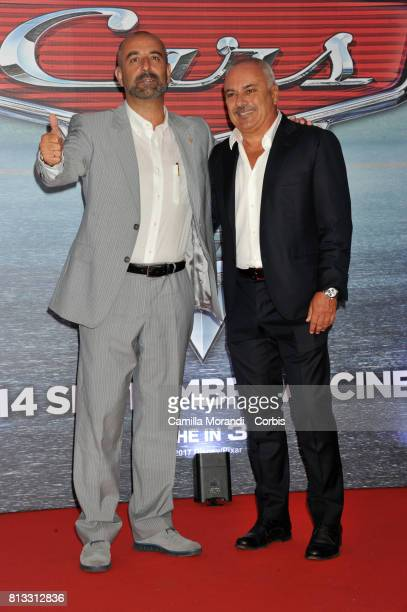 Gianfranco Mazzoni and Ivan Capelli attends a photocall for Cars 3 on July 12 2017 in Rome Italy