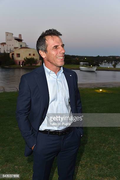 Gianfranco Zola attends the Gala Dinner during The Costa Smeralda Invitational golf tournament at Pevero Golf Club Costa Smeralda on June 25 2016 in...