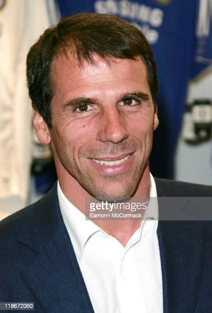 Gianfranco Zola during a photocall at Harrod's London England on June 25 2007