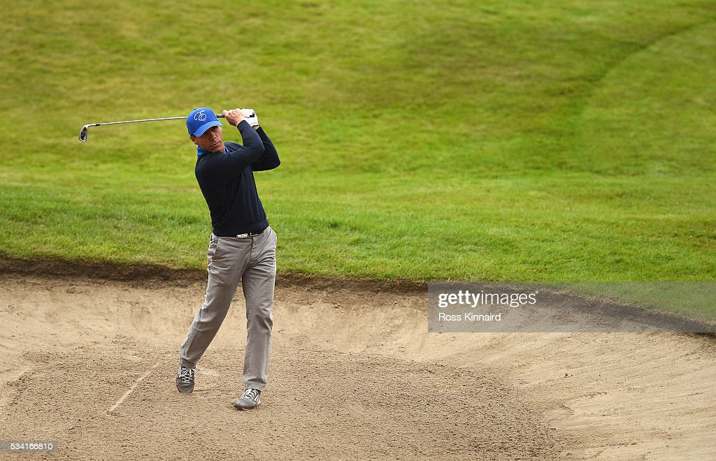 <a gi-track='captionPersonalityLinkClicked' href=/galleries/search?phrase=Gianfranco+Zola&family=editorial&specificpeople=213951 ng-click='$event.stopPropagation()'>Gianfranco Zola</a> in action during the Pro-Am prior to the BMW PGA Championship at Wentworth on May 25, 2016 in Virginia Water, England.
