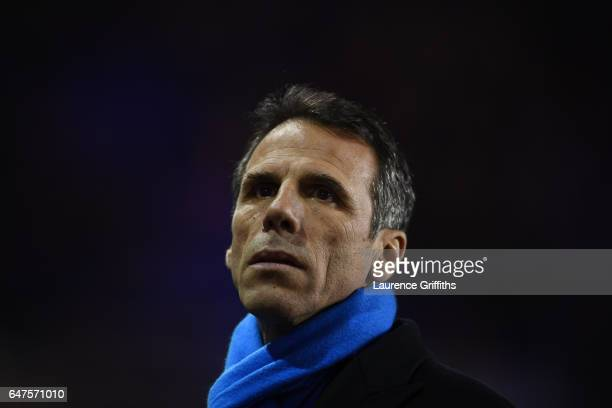 Gianfranco Zola of Birmingham City looks on during the Sky Bet Championship match between Birmingham City and Leeds United at St Andrews on March 3...