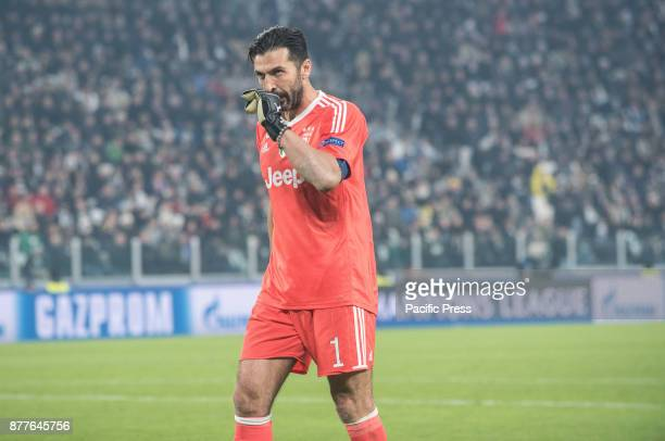 Giangluigi Buffon during the Champions League match Juventus FC vs Barcellona FC at the Juventus Stadium The final score is 00