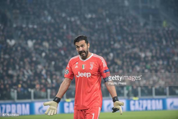 Giangluigi Buffon during the Champions League match Juventus FC vs Barcellona FC at the Juventus Stadium The final scorre is 00