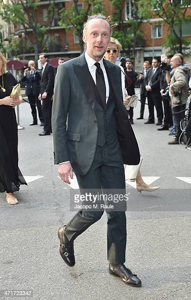 Gianluca Cantaro attends the Giorgio Armani 40th Anniversary Silos Opening And Cocktail Reception on April 30 2015 in Milan Italy