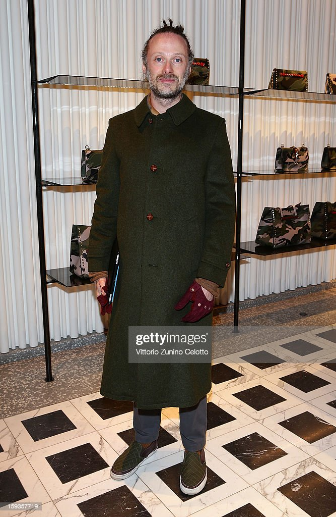 Gianluca Cantaro attends Valentino Cocktail Party as part of Milan Fashion Week Menswear Autumn/Winter 2013 on January 12, 2013 in Milan, Italy.