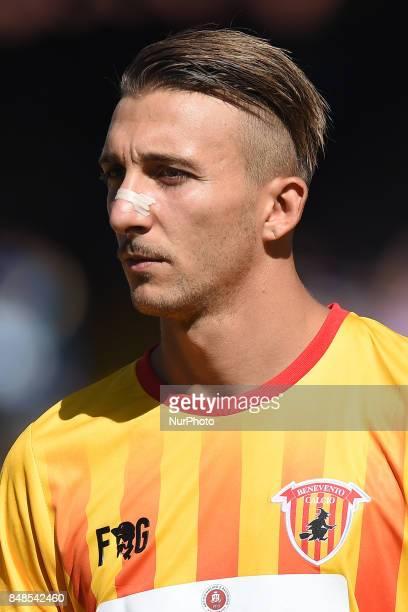 Gianluca Chiara of Benevento Calcio during the Serie A TIM match between SSC Napoli and Benevento Calcio at Stadio San Paolo Naples Italy on 17...