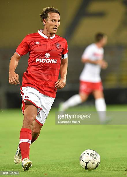 Gianluca Comotto of Perugia in action during the preseason friendly match between AC Perugia and Carpi FC at Stadio Renato Curi on August 1 2015 in...