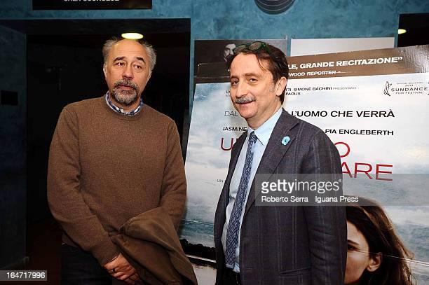 Gianluca Farinelli curator of the Cineteca di Bologna introduces italian director Giorgio Diritti and his latest film 'Un Giorno Devi Andare' at...