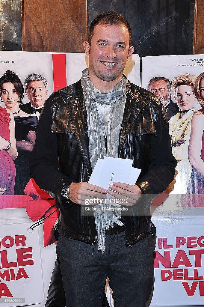 Gianluca Fubelli attends 'Il Peggior Natale Della Mia Vita' Premiere on November 21, 2012 in Milan, Italy.