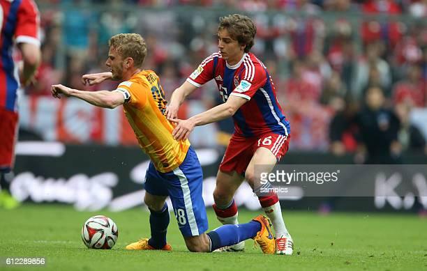 Gianluca Gaudino FC Bayern München Muenchen gegen Fabian Lustenberger Fußball 1 Bundesliga FC Bayern München Hertha BSC Berlin 10