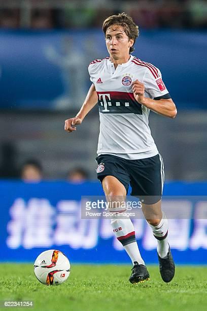 Gianluca Gaudino of Bayern Munich in action during the match between Bayern Munich and Guangzhou Evergrande as part of the Bayern Munich Asian Tour...