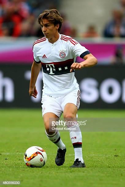 Gianluca Gaudino of Bayern runs with the ball during the Telekom Cup 2015 Semi Final match between Borussia Moenchegladbach and Hamburger SV at...