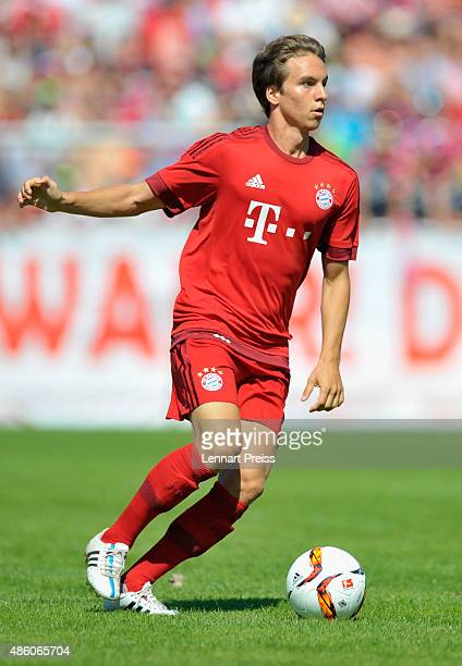 Gianluca Gaudino of FC Bayern Muenchen in action during a friendly match between Fanclub Red Power and FC Bayern Muenchen on August 30 2015 in...