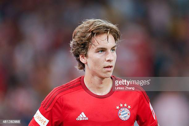 Gianluca Gaudino of FC Bayern Muenchen looks on during the international friendly match between FC Bayern Muenchen and Valencia FC during the Audi...