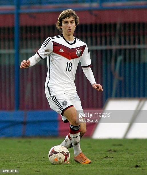 Gianluca Gaudino of Germany during the UEFA U19 Friendly Tournament match between France vs Germany at Stadium Veria on November 17 2014 in Veria...