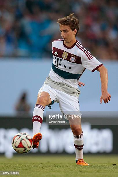 Gianluca Gaudino of Munich during the Telekom Cup 2014 match between FC Bayern Muenchen and Borussia Moenchengladbach at Imtech Arena on July 26 2014...