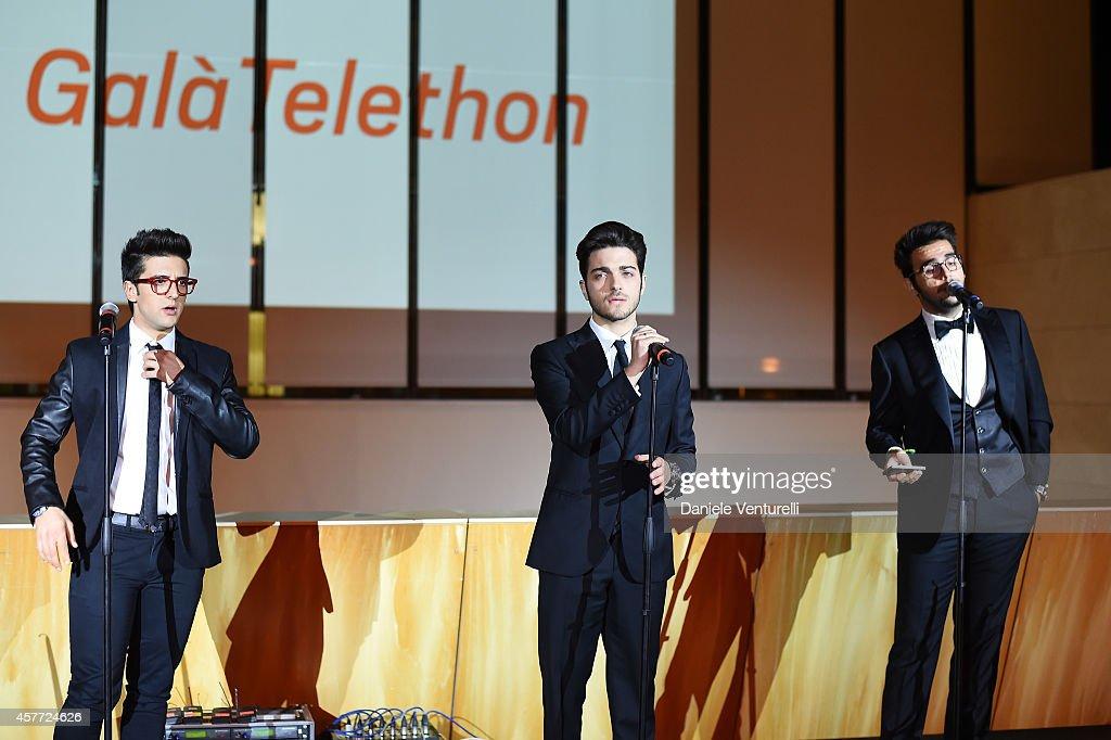 Gianluca Ginoble Ignazio Boschetto and Piero Barone attends Gala Telethon during the 9th Rome Film Festival at Auditorium Parco Della Musica on...