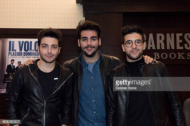 Gianluca Ginoble Ignazio Boschetto and Piero Barone of Il Volo appear at their CD signing at Barnes Noble at The Grove on December 6 2016 in Los...