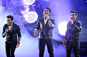 Gianluca Ginoble Ignazio Boschetto and Piero Barone of Il Volo perform onstage during Telemundo's Latin American Music Awards at the Dolby Theatre on...