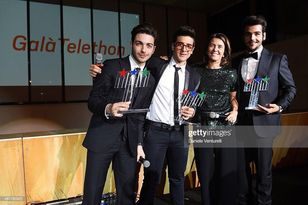 Gianluca Ginoble Ignazio Boschetto Francesca Pasinelli and Piero Barone attend Gala Telethon during the 9th Rome Film Festival at Auditorium Parco...