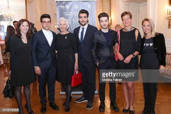 Gianluca Ginoble Ignazio Boschetto Piero Barone from Il Volo Mariavittoria Rava and guests attend the Ramon Vargas Recital in favor of the Fondazione...