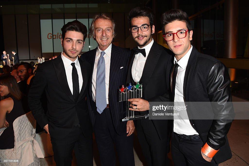 Gianluca Ginoble Luca Cordero di Montezemolo Ignazio Boschetto and Piero Barone attends Gala Telethon during the 9th Rome Film Festival at Auditorium...