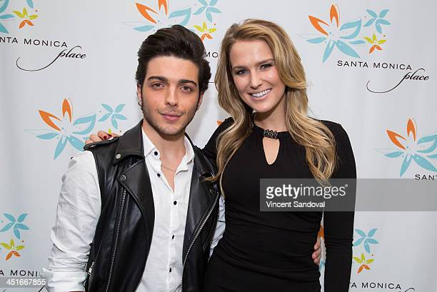 Gianluca Ginoble of Il Volo and singer Amanda Ply attend the HGTV Holiday House KickOff at Santa Monica Place with performance by Il Volo at Santa...