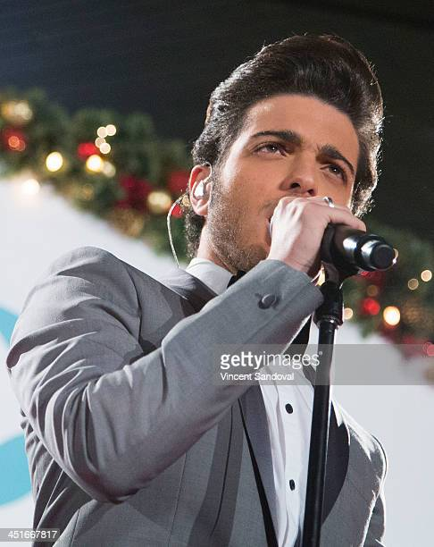 Gianluca Ginoble of Il Volo performs during the HGTV Holiday House KickOff at Santa Monica Place with performance by Il Volo at Santa Monica Place on...
