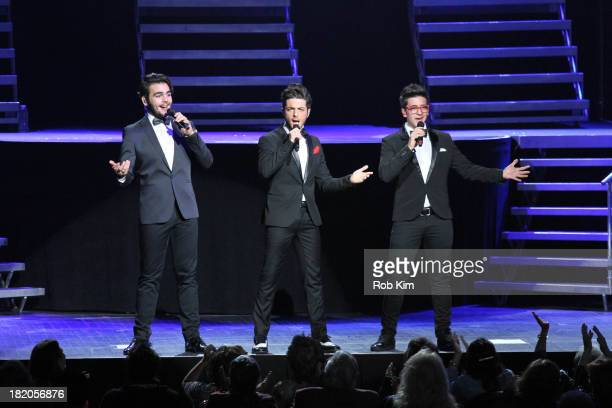 Gianluca Ginoble Piero Barone and Ignazio Boschetto of Il Volo performs at Radio City Music Hall on September 27 2013 in New York City