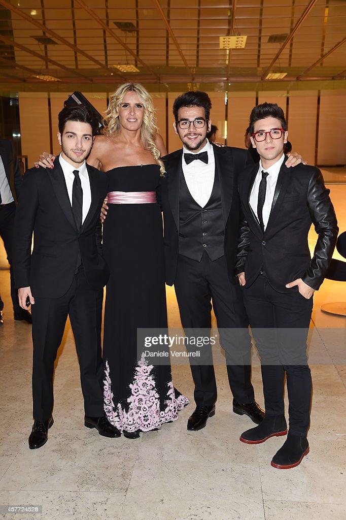 Gianluca Ginoble Tiziana Rocca Ignazio Boschetto and Piero Barone attends Gala Telethon during the 9th Rome Film Festival at Auditorium Parco Della...