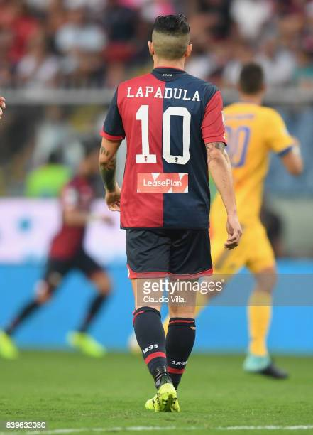 Gianluca Lapadula of Genoa CFC in action during the Serie A match between Genoa CFC and Juventus at Stadio Luigi Ferraris on August 26 2017 in Genoa...
