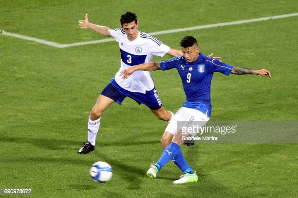 Gianluca Lapadula of Italy during International Friendly between Italy and San Marino at Stadio Carlo Castellani on May 31 2017 in Empoli Italy