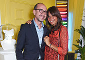 Gianluca Longo and Countess Debonnaire von Bismarck attend a drinks reception and dinner in celebration of the Sabine Getty Showroom in Berkeley...