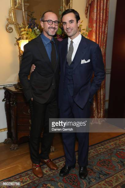Gianluca Longo and Guido Taroni attend Giampiero Bodino's 'Beauty Is My Favourite Colour' cocktails and dinner evening at Spencer House on October 11...
