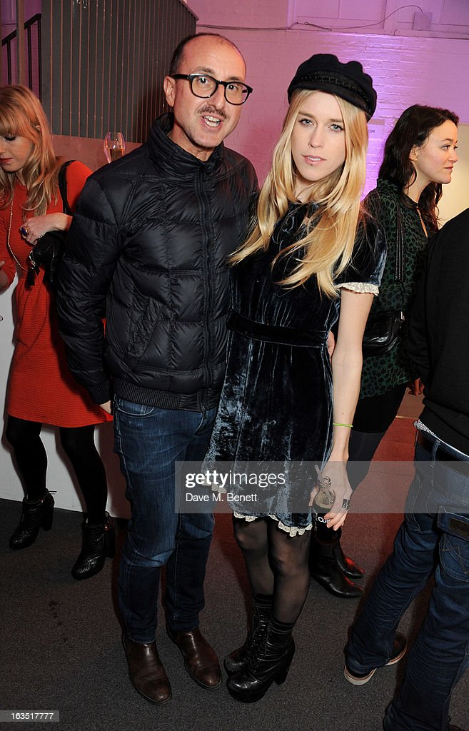 Gianluca Longo (L) and <a gi-track='captionPersonalityLinkClicked' href=/galleries/search?phrase=Mary+Charteris&family=editorial&specificpeople=4361110 ng-click='$event.stopPropagation()'>Mary Charteris</a> attend a party celebrating 30 years of Diet Coke and announcing designer Marc Jacobs as Creative Director for Diet Coke in 2013 at the German Gymnasium Kings Cross on March 11, 2013 in London, England.