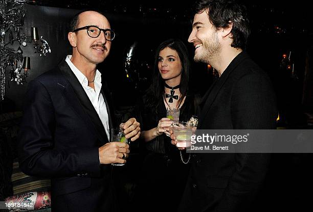 Gianluca Longo Julia Restoin Roitfeld and Robert Konjic attend a private dinner hosted by Tom Ford to celebrate his runway show during London...