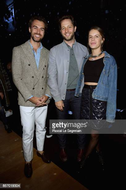 Gianluca Passi Derek Blasberg and Eugenie Niarchos attend the Moncler Gamme Rouge show as part of the Paris Fashion Week Womenswear Spring/Summer...