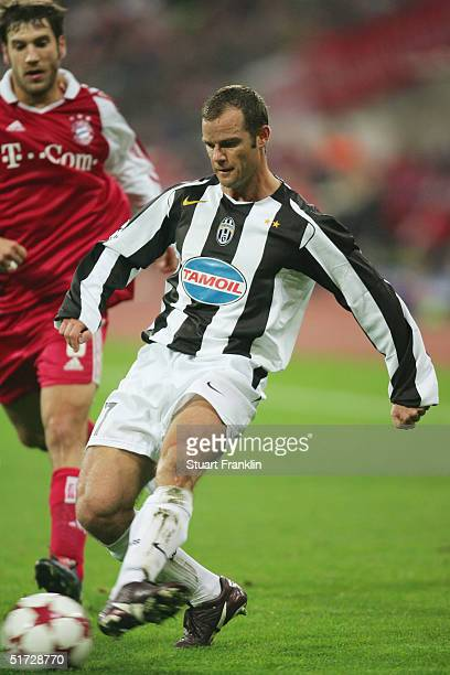Gianluca Pessotto of Juventus during the UEFA Champions League group C match between FC Bayern Munich and Juventus at The Olympic Stadium on November...