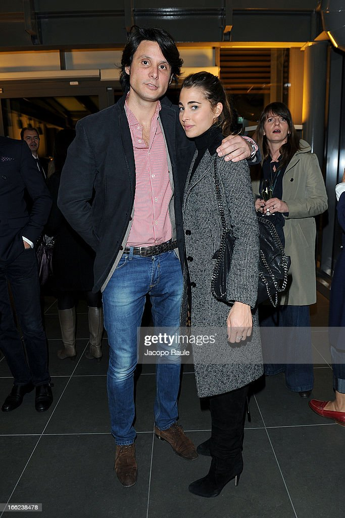 Gianluca Reina and Ginevra Ligresti attend Ron Gilad for Molteni&C and Salvatore Ferragamo on April 10, 2013 in Milan, Italy.