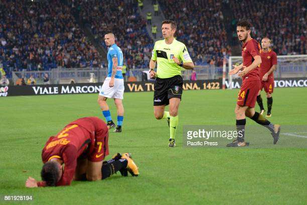 Gianluca Rocchi during the Italian Serie A football match between AS Roma and SSC Napoli at the Olympic Stadium in Rome on october 14 2017