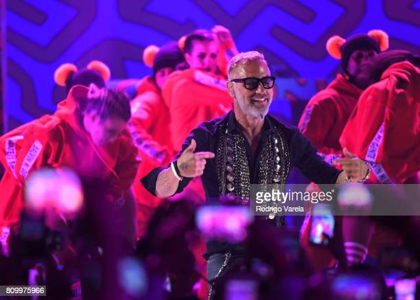 Gianluca Vacchi performs on stage during Univision's 'Premios Juventud' 2017 Celebrates The Hottest Musical Artists And Young Latinos ChangeMakers at...