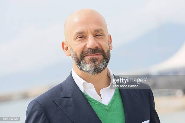 Gianluca Vialli attends 'Football Nightmares' Photocall as part of MIPTV 2016 on April 4 2016 in Cannes France