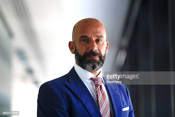 Gianluca Vialli former Italian international football player and former manager of Chelsea FC poses for a photograph following a Bloomberg Television...