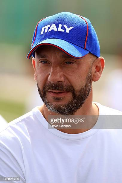 Gianluca Vialli of Italy at the Gianluca Vialli and Ruud Gullit Football Masterclass at the Bahrain National Stadium during the first day of the...