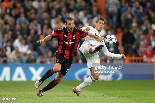 Gianluca Zambrotta / Cristiano Ronaldo Real Madrid / Milan AC Champions League 2010/2011