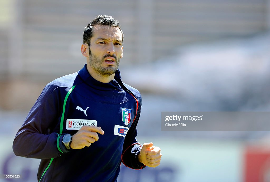 Gianluca Zambrotta of Italy during the Italy Training Session on May 25, 2010 in Sestriere near Turin, Italy.