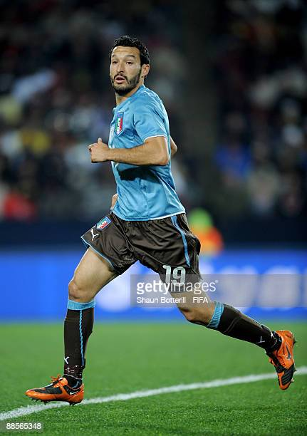 Gianluca Zambrotta of Italy in action during the FIFA Confederations Cup Group A match between Egypt and Italy at the Ellis Park Stadium on June 18...
