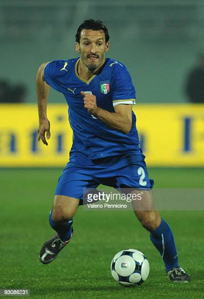 Gianluca Zambrotta of Italy in action during the international friendly match between Italy and Holland at Adriatico Stadium on November 14 2009 in...
