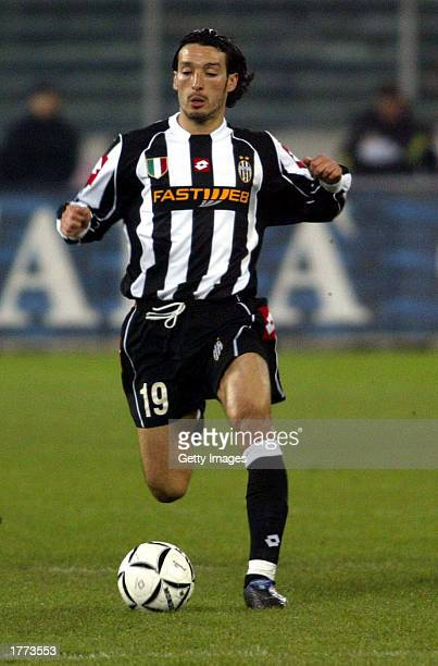 Gianluca Zambrotta of Juventus in action during the Serie A match between Juventus and Empoli played at the Stadio Delle Alpi Turin Italy on February...